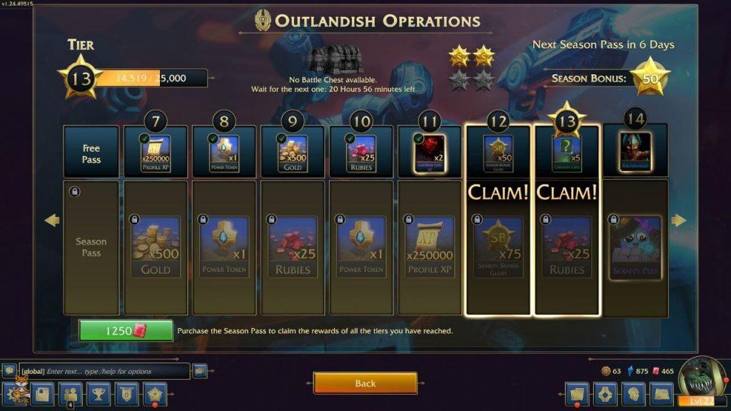 MM - Battle Pass UI