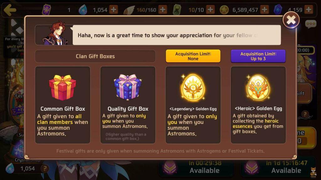 Clan Festival Egg Rewards