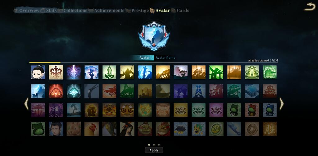 Avatar Collection UI