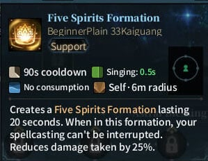 SOLO Bard - Fire Spirits Formation
