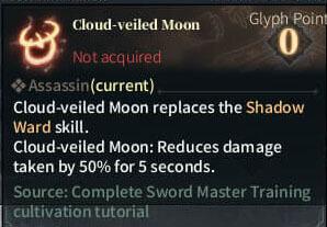 SOLO Reaper Glyph - Cloud-veiled Moon