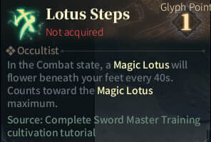 SOLO Reaper Glyph - Lotus Steps