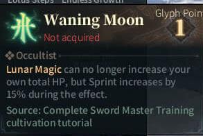 SOLO Reaper Glyph - Waning Moon