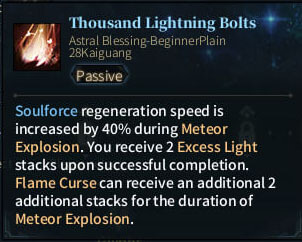 SOLO Summoner Astral - Thousand Lightning Bolts