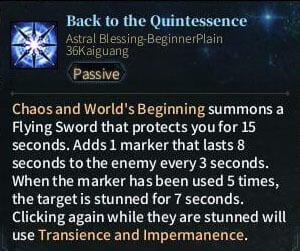 SOLO Sword - Back to the Quintessence