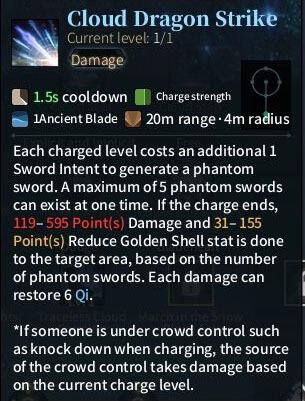 SOLO Sword - Cloud Dragon Strike