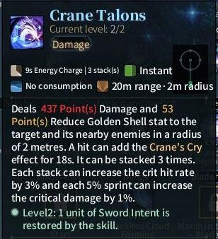 SOLO Sword - Crane Talons