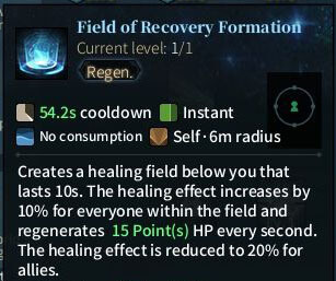 SOLO Sword - Field of Recovery Formation