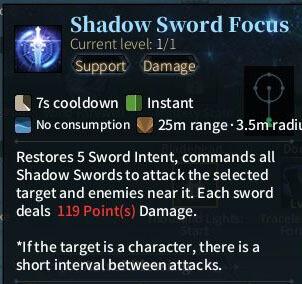 SOLO Sword - Shadow Sword Focus