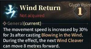 SOLO Zerker Gylph - Wind Return