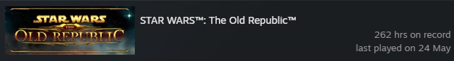 SWTOR Steam Played Time